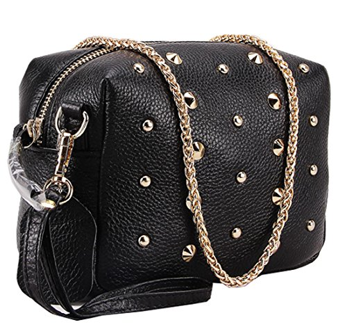3689840d2aa Heshe® New Office Lady Genuine Leather Candy Color Simple Style Fashion  Designer Wristlet Shoulder Cross Body Bag ...