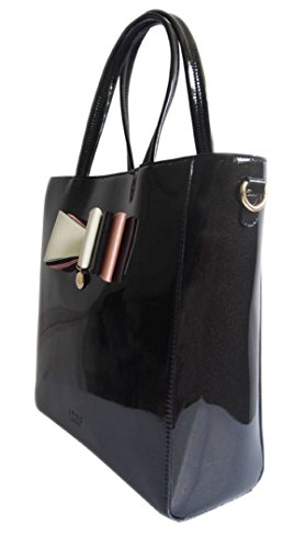 Y Handbags Beautiful Oversized Patent Faux Leather Tote