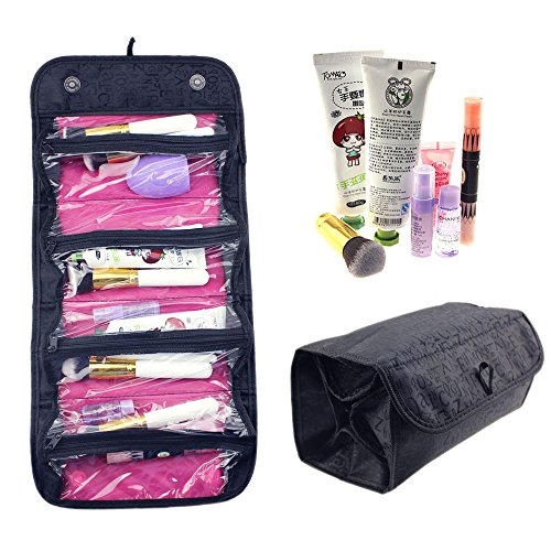 Hotrose Large Capacity Roll Up Travel Cosmetic Makeup