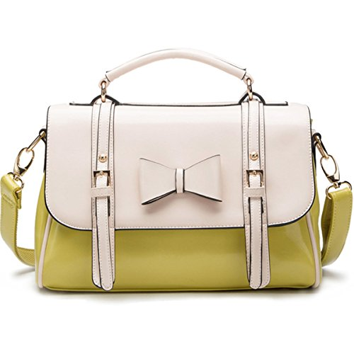 Kaxidy Las S Pu Leather Bowknot Tote Shoulder