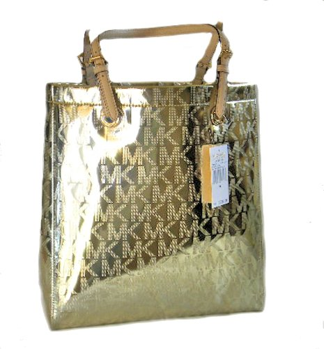 Michael Kors Mk Monogram Mirror Metallic Jet Set