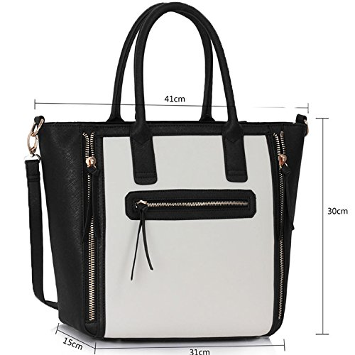 New Look Las Designer Leather Style Celebrity Tote