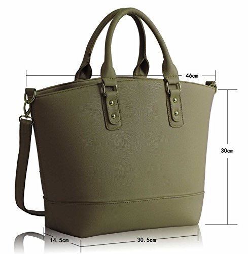 New Look Las Handbags Women Leather Style Grab Hobo