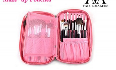 Value Makers Professional Makeup Brushes Bag Make Up Brush Case Multifunction Cosmetics Pouches Folio Portable Handbag For