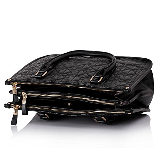 Handbags With 3 Zippered Compartments