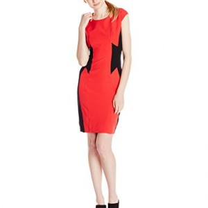 XOXO-Womens-Contrast-Panel-Dress-Coral-1112-0