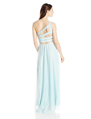 My Michelle Womens One Shoulder Long Social Dress