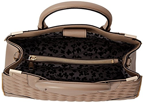 Rebecca Minkoff Quilted Amorous Satchel Top Handle Bag Khaki One