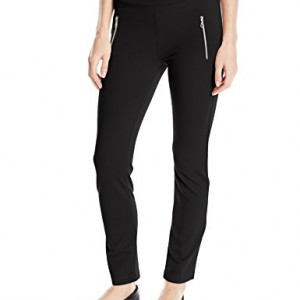 iT-Collective-Womens-Jenny-Ponte-Zip-Front-Pull-On-Pant-Black-Small-0