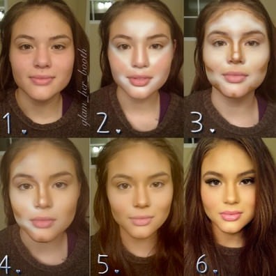 before makeup after and girls Pretty