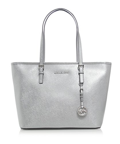d720a25c6f9e Michael Kors Metallic Jet Set Travel Tote Bag One Size. Gucci metallic  silver guccissima leather ...